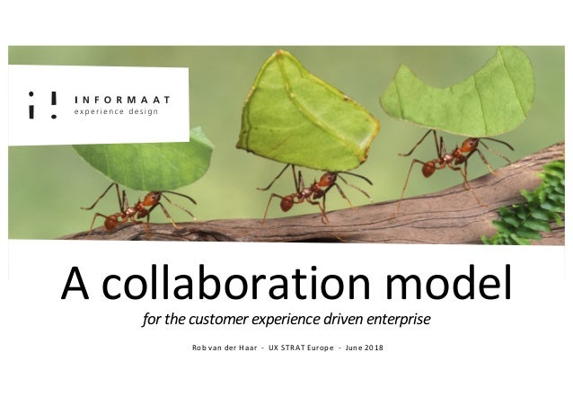 Introductie A collaboration modelfor the customer experience driven enterprise Rob van der Haar - UX STRAT Europe - June 2...