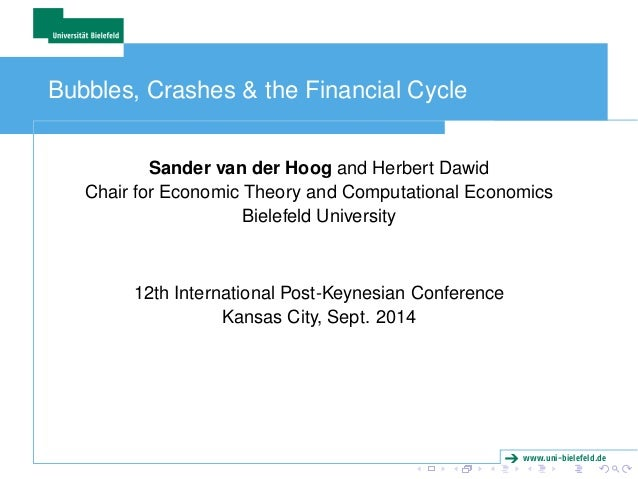 www.uni-bielefeld.de  Bubbles, Crashes & the Financial Cycle  Sander van der Hoog and Herbert Dawid  Chair for Economic Th...