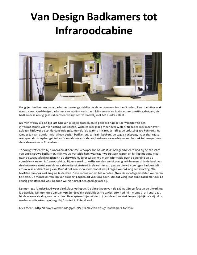 Van design badkamers tot infraroodcabine