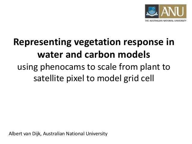 Representing vegetation response in water and carbon models using phenocams to scale from plant to satellite pixel to mode...