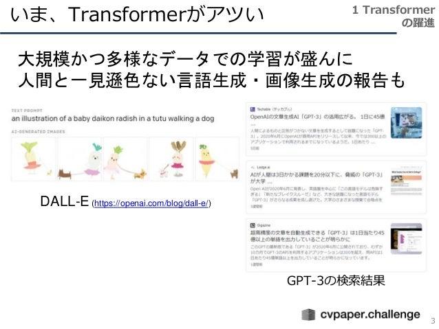 Transformer メタサーベイ Slide 3