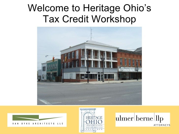 Welcome to Heritage Ohio's Tax Credit Workshop