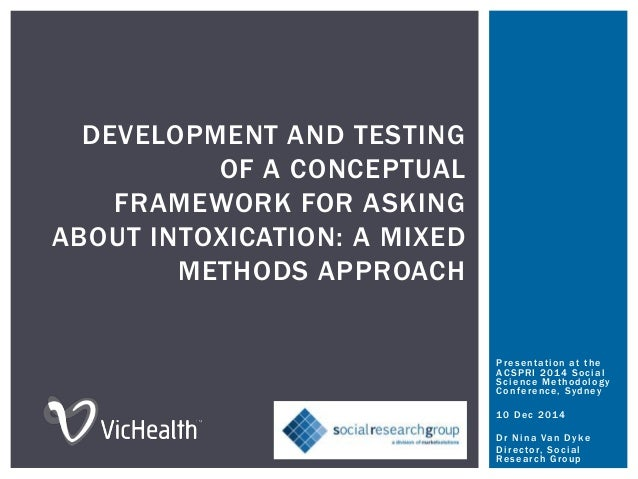 DEVELOPMENT AND TESTING OF A CONCEPTUAL FRAMEWORK FOR ASKING ABOUT INTOXICATION: A MIXED METHODS APPROACH Presentation at ...
