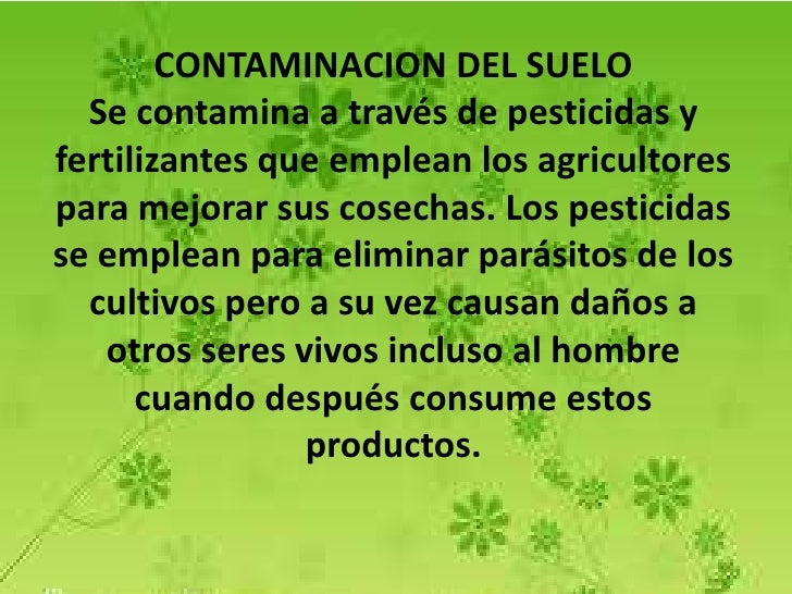 Medio ambiente contaminaci n y cuidado for 5 cuidados del suelo