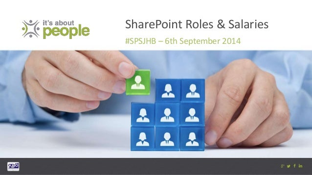 SharePoint Roles & Salaries  #SPSJHB – 6th September 2014