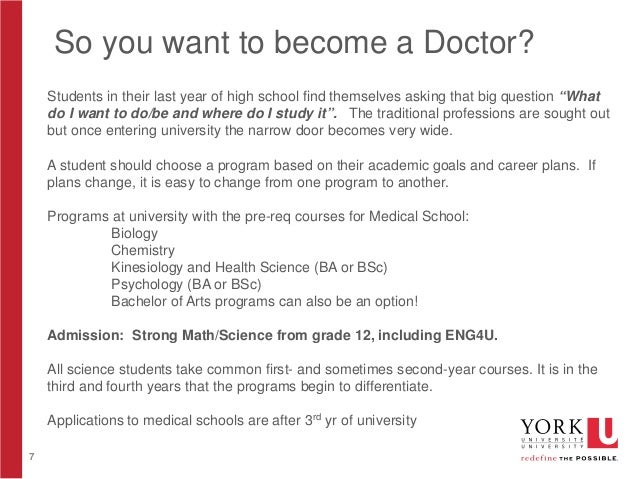 Why I Want to Become a Doctor - Assignment Example