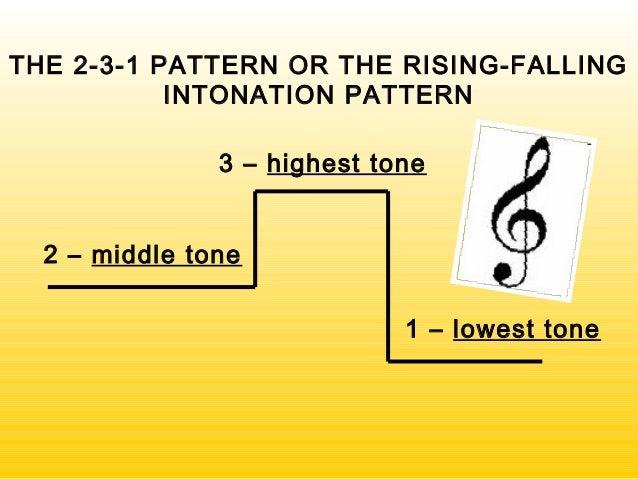 Intonation patterns