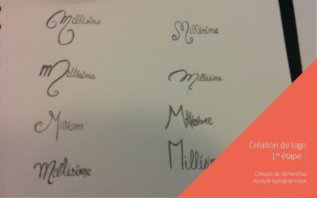 Création de logo 1re étape : Croquis de recherches du style typographique