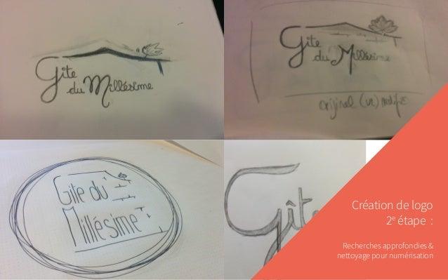 Création de logo 2e étape : Recherches approfondies & nettoyage pour numérisation