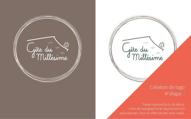 Création de logo 4e étape : Travail manuel du G, du décor, choix de typographie se rapprochant du style manuel. Pour un e...