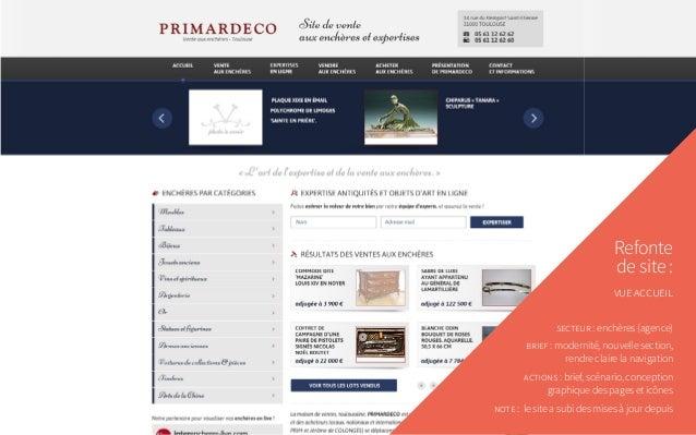 Refonte de site: vue accueil secteur: enchères (agence) brief: modernité, nouvelle section, rendre claire la navigation...