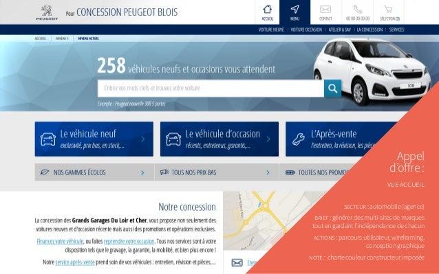 Appel d'offre: vue accueil secteur: automobile (agence) brief: générer des multi-sites de marques tout en gardant l'ind...