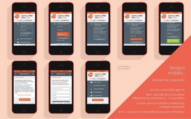 Version mobile: scénario de connexion secteur: automobile (agence) brief: apporter plus de souplesse (déplacements, tra...
