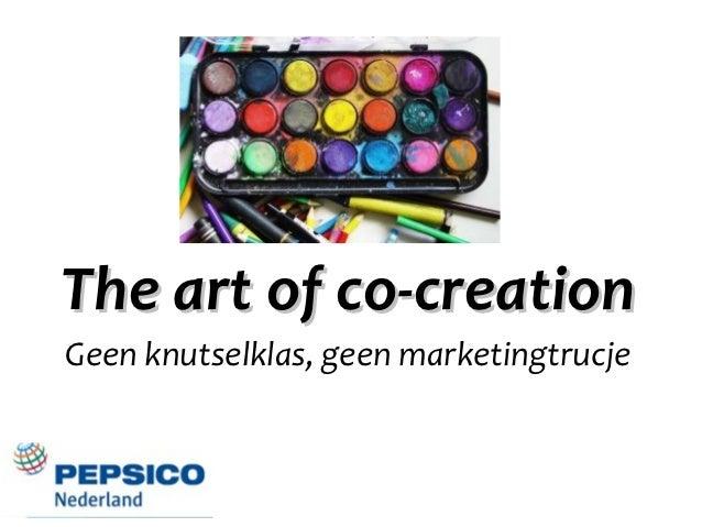 The art of co-creationGeen knutselklas, geen marketingtrucje