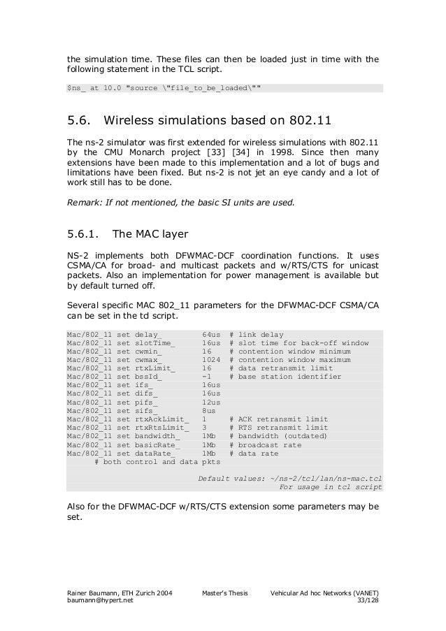ns2 vanet simulation example codes