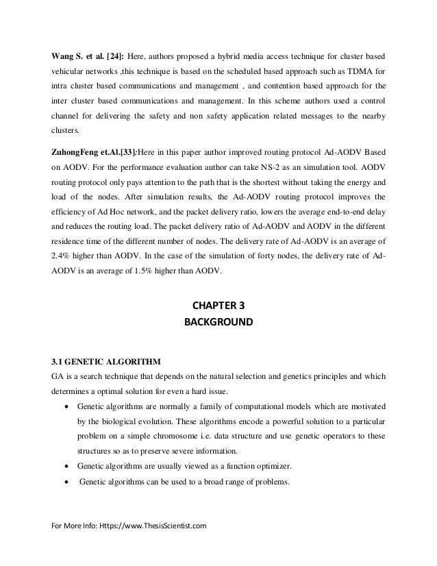 Thesis report on aodv