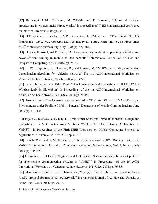 Aodv protocol thesis