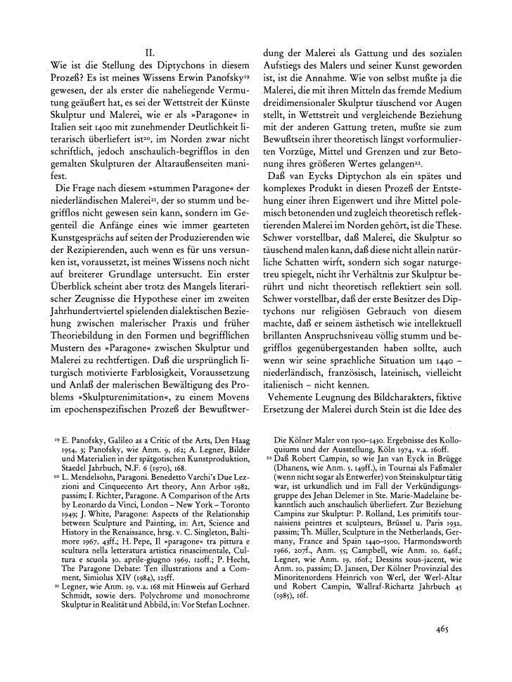 II.                                 dung der Malerei als Gattung und des sozialen Wie ist die Stellung des Diptychons in d...