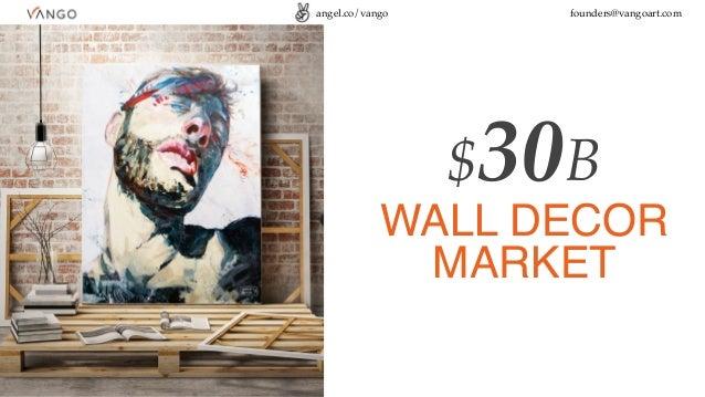 angel.co/vango founders@vangoart.com $30B WALL DECOR MARKET