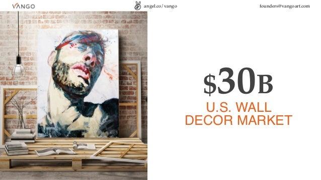 angel.co/vango founders@vangoart.com $30B U.S. WALL DECOR MARKET
