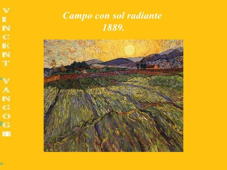 Campo con sol radiante        1889.
