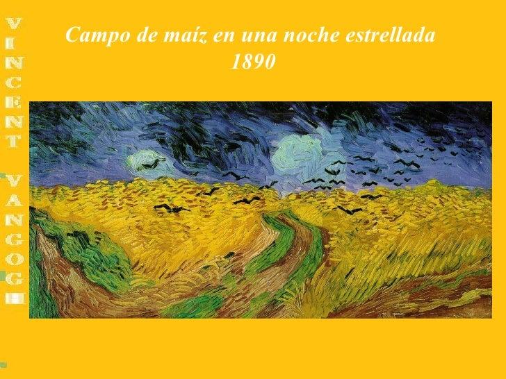 Campo de maíz en una noche estrellada                1890