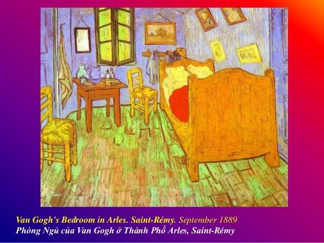 Van Gogh's Bedroom in Arles. Saint-Rémy. September 1889 Phòng Ngủ của Van Gogh ở Thành Phố Arles, Saint-Rémy