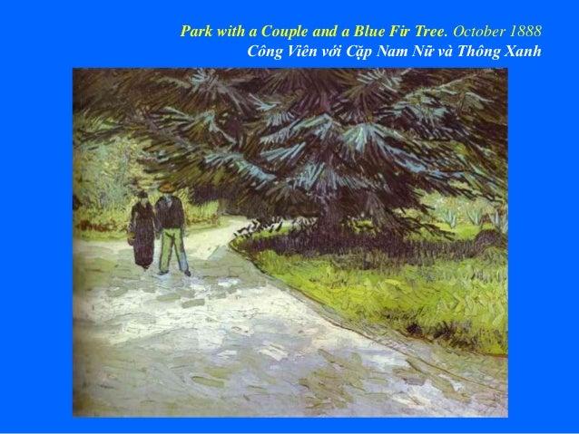 Park with a Couple and a Blue Fir Tree. October 1888 Công Viên với Cặp Nam Nữ và Thông Xanh