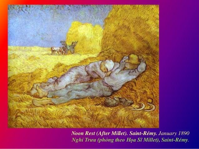Noon Rest (After Millet). Saint-Rémy. January 1890 Nghỉ Trưa (phỏng theo Họa Sĩ Millet), Saint-Rémy.