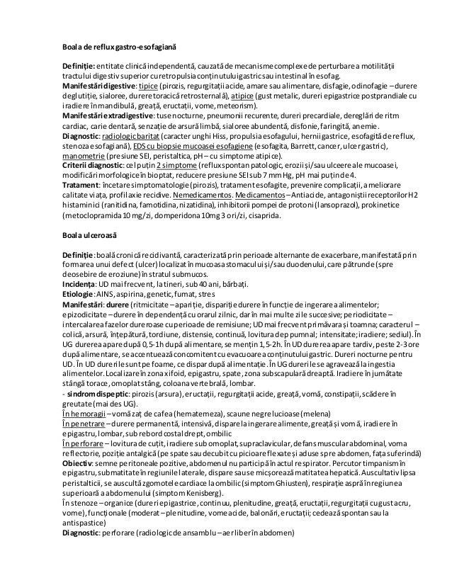 Boala de refluxgastro-esofagiană Definiție:entitate clinicăindependentă,cauzatăde mecanismecomplexede perturbare amotilită...