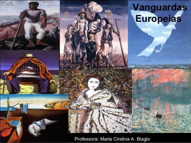 Vanguardas Europeias Professora: Maria Cristina A. Biagio