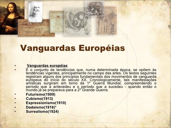 Vanguardas europeias  Slide 2