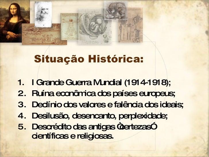 Situação Histórica: <ul><li>I Grande Guerra Mundial (1914-1918); </li></ul><ul><li>Ruína econômica dos países europeus; </...