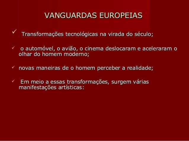Vanguardas europeias slides Slide 2