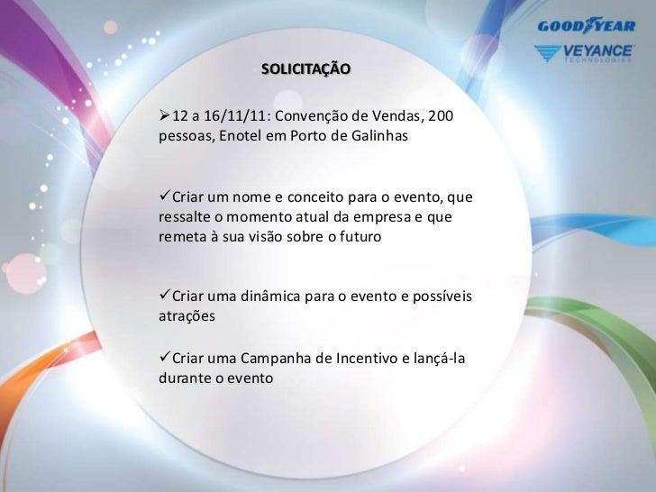 SOLICITAÇÃO12 a 16/11/11: Convenção de Vendas, 200pessoas, Enotel em Porto de GalinhasCriar um nome e conceito para o ev...