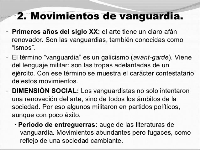 Vanguardias7 for Tipos de vanguardias