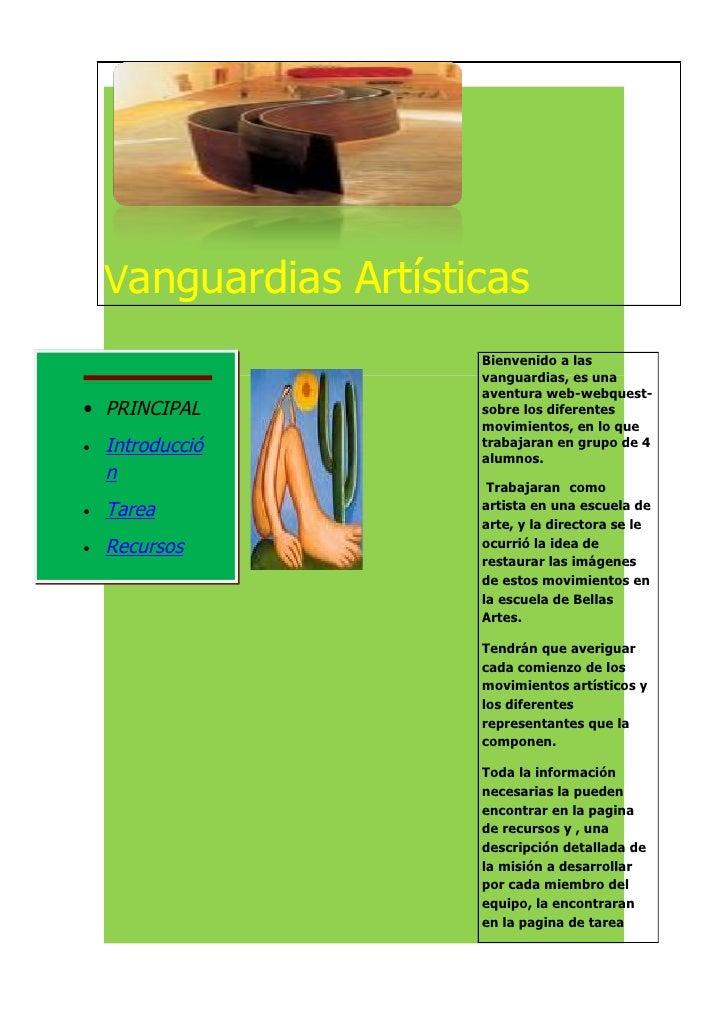 Vanguardias Artísticas                        Bienvenido a las                        vanguardias, es una                 ...