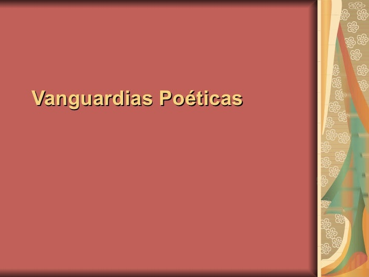 Vanguardias Poéticas