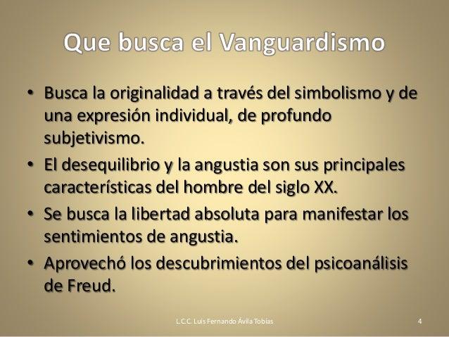 Las corrientes vanguardistas en la literatura for Caracteristicas del vanguardismo