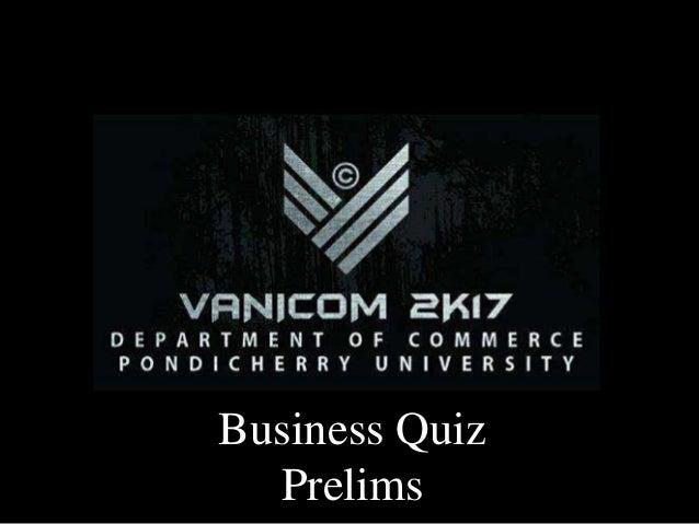 Business Quiz Prelims