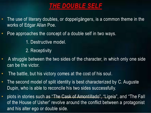 the purpose of doubling in the black cat a short story by edgar allan poe In this lesson, we will learn about edgar allan poe's short story, 'the black cat' we examine its main events and characters and analyze the.