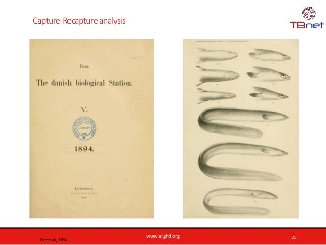 www.aighd.org Capture-Recapture analysis 25 Peterson, 1894
