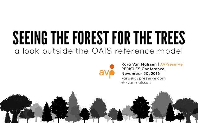 SEEING THE FOREST FOR THE TREES Kara Van Malssen | AVPreserve PERICLES Conference November 30, 2016 kara@avpreserve.com @k...