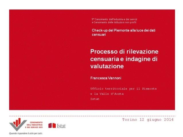 F. Vannoni - Processo di rilevazione e indagine di valutazione