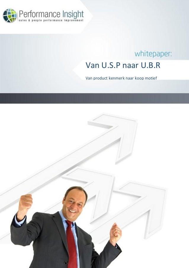 Van U.S.P naar U.B.RVan product kenmerk naar koop motief