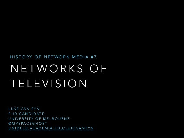 HISTORY OF NETWORK MEDIA #7  NETWORKS OF TELEVISION L U K E VA N R Y N 
