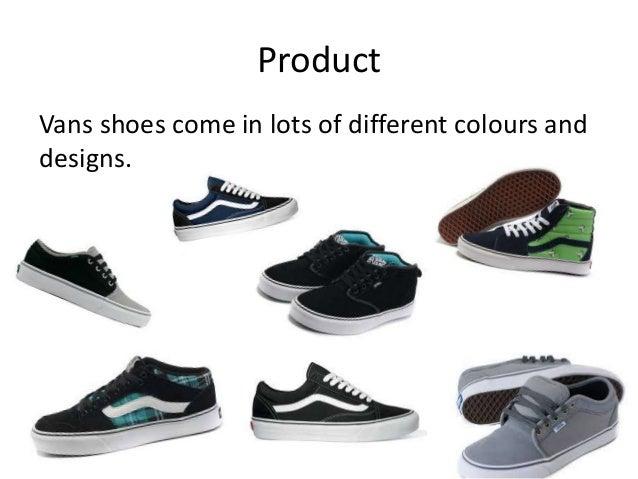 vans shoes kinds