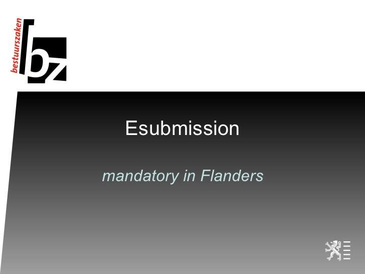 Esubmission mandatory in Flanders