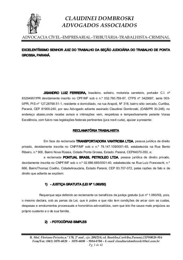 O Modelo Petição Trabalhista Tcc November 2019 Ajuda