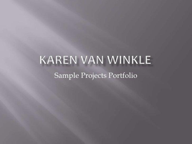 Sample Projects Portfolio